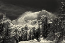Snow drifts on Pigne d'Arolla I